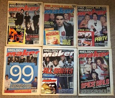 6 Melody Maker Job Lot 1998 1999 4 With CDs Spice Girls All Saints Stereophonics