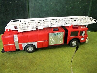 1996 Hess Red Fire Truck Bank ~tested and lights