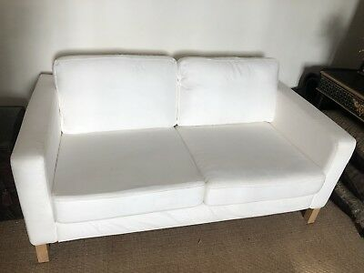 Prime Ikea Karlstad Sofa White Canvas 2 Seater In Good Gmtry Best Dining Table And Chair Ideas Images Gmtryco