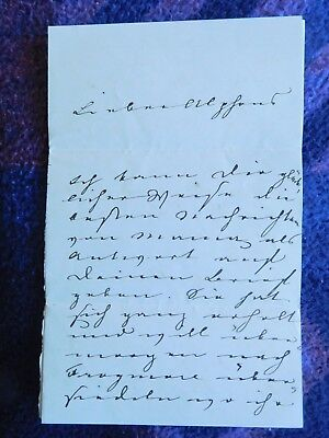 Prince Albert consort of Queen Victoria, rare hand written letter to his cousin
