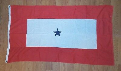 Antique Son Daughter Military 1 BLUE STAR SERVICE Flag Banner 3x5' WWII 1117-5