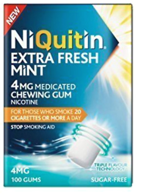 NIQUITIN Extra Fresh Mint 4mg / 100 Chewing Gums