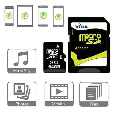 Fast 64GB Micro SD Memory Card Class 10 For Huawei nova 2 plus P10 Lite Plus P8