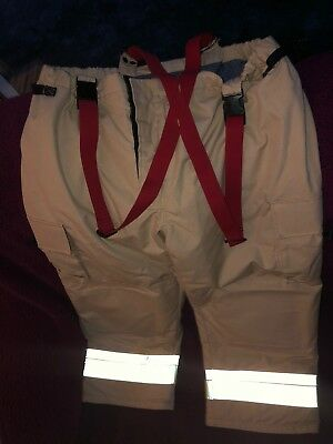 Fire Dept Firefighting Bunker Pants by Bristol Uniforms Ltd. New Old Stock