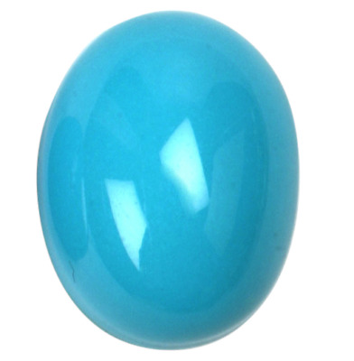 Natural Super Fine Persian Turquoise - Oval Cabochon - Untreated - AAAA Grade
