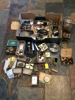 JOB LOT OF Clock / Watch Parts Sold As Seen Please See Pictures