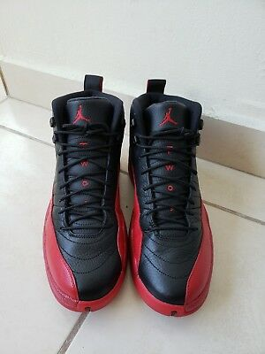 sports shoes e163a 17d54 Nike Air Jordan 12 Flu Game Size 12 With Receipt XII Black Red Bred 130690-