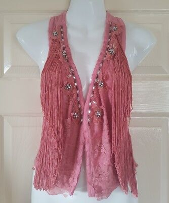 Line Dancing/ Country & Western Style Ladies Waistcoat Size 6