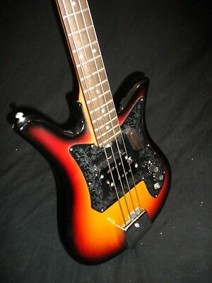 Teisco Tulip Short Scale Electric Bass Guitar  -- Vintage 60s, MIJ, Old School !