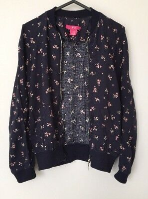 YOUNG DIMENSION Pretty Floral Lightweight Zip-Up Collarless Jacket Age 7-8 Years