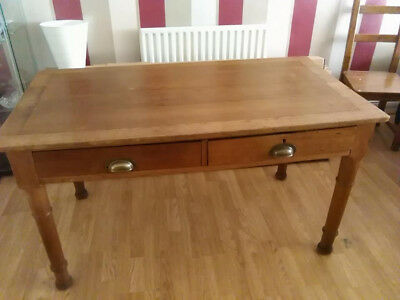 Used Oak Scrub Top Kitchen Table