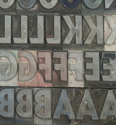 72pt San Serif Extra Bold Condensed metal type letterpress