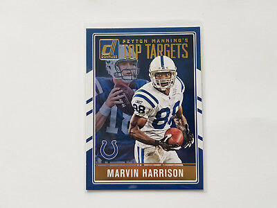 2016 Donruss Top Targets Marvin Harrison/Peyton Manning - Indianapolis Colts