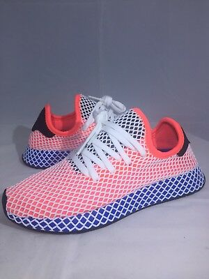 newest 04c68 8aa27 Adidas Deerupt Runner Solar Red Blue Bird Size 8 CQ2624