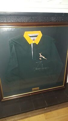 Rare Signed South Africa Rugby Shirt 1995 World Cup Captain Francois Pienaar