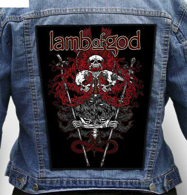 Lamb Of God -Giant Indestructible Photo Quality Backpatch Back Patch