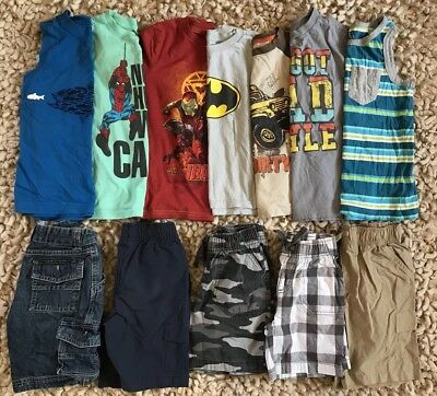 BOYS 12 Piece Lot - Size 5 / 6 - Summer Shorts & Shirts - TCP, Gymboree + More !