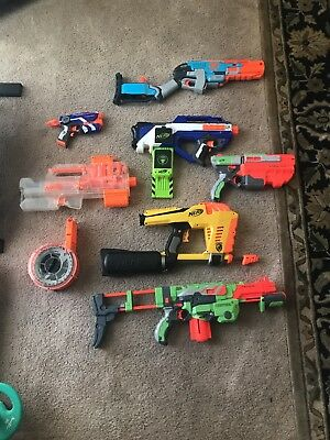 Huge Nerf Gun Lot (7 Guns + Drum Magazine)