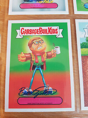GARBAGE PAIL KIDS aaap Apple Pie autograph. Brent Engstrom. Hipster Hal 23/25