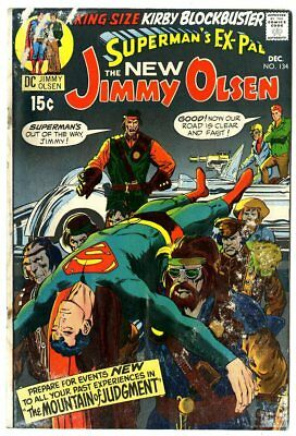 Jimmy Olsen #134 VG- 3.5 off-white pages  1st app. Darkseid  Jack Kirby  DC 1970