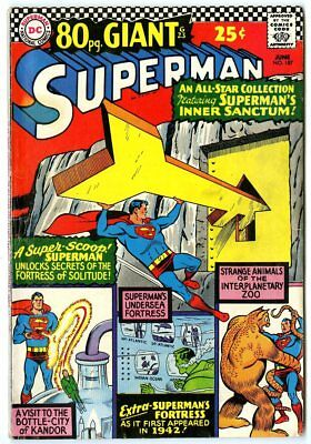 Superman #187 FN- 5.5 white pages  80 Page Giant  DC  1966  No Reserve