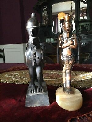 2 Egyptian statues! Vintage and Not. Pharaoh & Falcon! Cheaper than Walmart! See