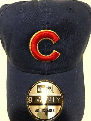 989cdccb72d25 Chicago Cubs New Era 9TWENTY Hat World Series Champions Cap Blue Baseball  MLB