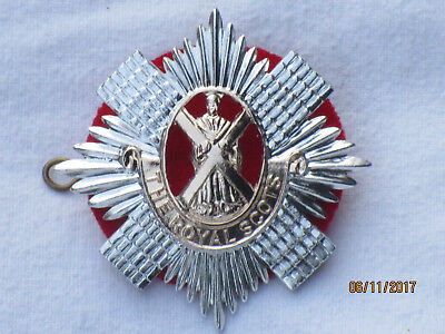 The Royal Scots, Anodised Aluminium StayBright capbadge