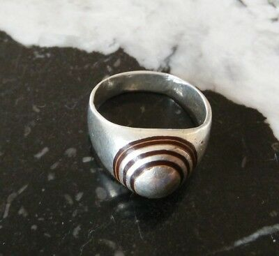 Extremely ancient silver legionary roman ring silver rare type