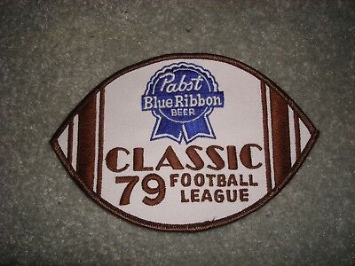 Pabst Blue Ribbon Beer 79 Classic Football League Patch