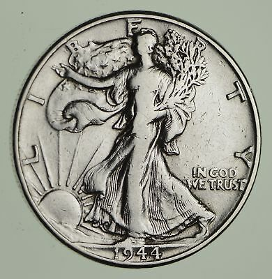 Strong Feather Details - 1944 Walking Liberty Half Dollars - Huge Value *825