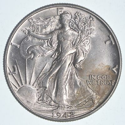Choice Lusterous 1942 Walking Liberty Half Dollar - Stunning *026
