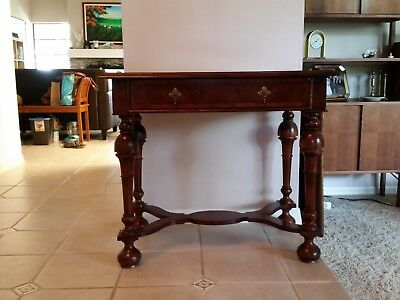 Antique Walnut Entry Table with single drawer English 1800's