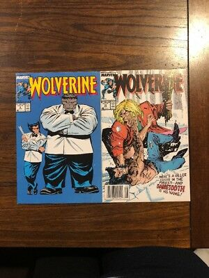 Wolverine (1988 1st Series) Nice Copies Marvel Comics #8 And #10 Ships In Gemini
