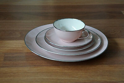 Franciscan Magnolia China w/ Platinum Trim 5 Piece Place Setting (6 total)