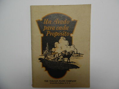 c.1920s Vulcan Plow Company Full Line Export Catalog Evansville Indiana Vintage