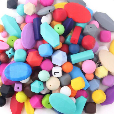Safe Silicone Loose Beads DIY Baby Teething Pacifier Necklace Jewelry Making