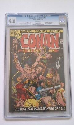 Conan The Barbarian #12 Comic Cgc 9.0 White 1971