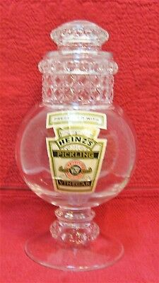 1991 Heinz Pickle Apothecary Jar in Box with Paper - Counter Jar