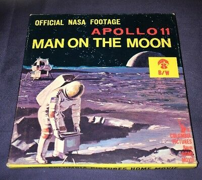 """*8MM Vintage FILM* """"Apollo 11 Man On The Moon"""" Official NASA Footage Great Cond."""