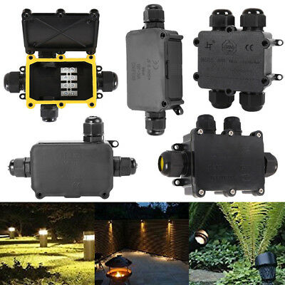 Waterproof Junction Box Case Electrical Cable Connector Outdoor IP66 Underground