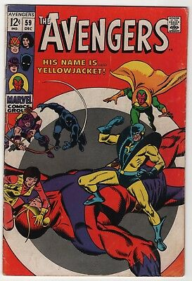 Avengers #59 solid copy 1st appearance Yellowjacket 1968 Marvel create-a-lot