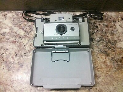 Vintage Polaroid Automatic 103 Land Camera With Case~Great Condition