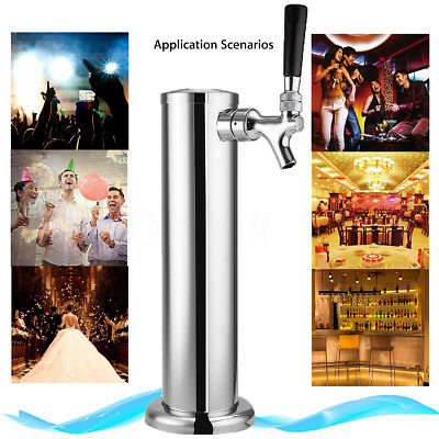 Stainless Steel Draft Beer Tower Tap Homebrew Bar Pub One Faucet for Kegerator