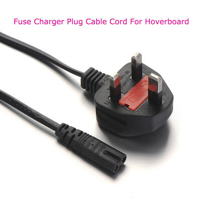 Hoverboard Fuse Charger Plug Cable Cord 3 Pin Two Wheels Scooter Accessories