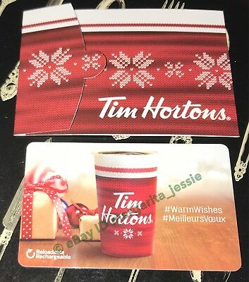 Tim Hortons Canada Gift Card Christmas Cup 2017 No Value Fd-59745 New #6147