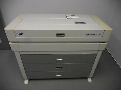 Kipstar 2000 laser large format plan printer, 3 drawers different paper sizes