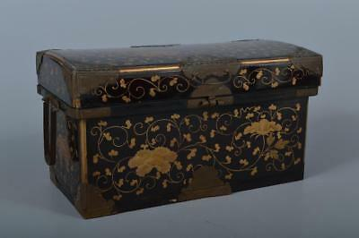 M1232: Japanese Old Wooden CONTAINER for article Accessories Case Box