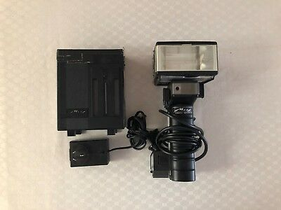 METZ MECABLITZ 60 CT-4 FLASH SYSTEM w/ BATTERY PACK & CABLES
