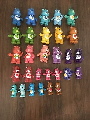Large Lot of 29 vintage and new Care Bears figures